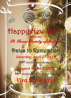 2019 St. Rocco's Feast Happy New Year