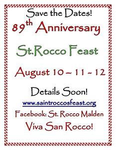 2016 St. Rocco's Save the Date flyer